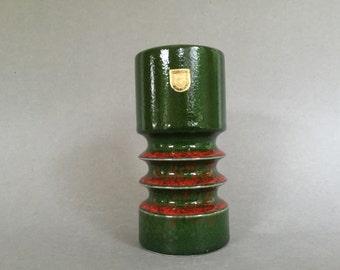 Fohr Keramik, 360 -15  Mid Century Space Age ceramic  West Germany vase 1960s / 1970s  . WGP.