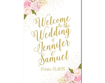 Wedding Welcome Sign - Reception Sign - Welcome Sign - Floral Wedding Sign - Fall Wedding Sign - Rustic Wedding Sign - Wedding Sign #CL111