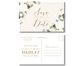 PRINTABLE Save the Date Postcard, Printable Save the Date, Wedding Save the Date, Save-the-Date, Wedding Postcard, Save our Date #CL177