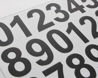 """2""""/5 cm DIGITS on the Fridge, Magnets, BLACK Magnetic Numbers, MagWords"""