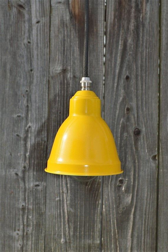 small retro yellow tulip hanging lightshade lamp shade ceiling. Black Bedroom Furniture Sets. Home Design Ideas