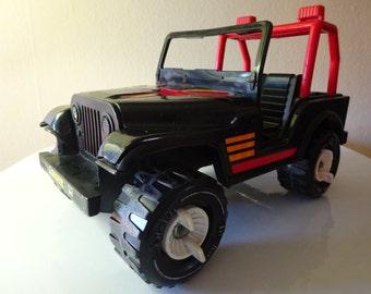 Vintage 1980's Black Metallic CJ-7 Tonka Jeep - FREE SHIPPING