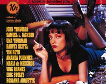 "Pulp Fiction Uma Thurman  John Travolta Gun movie poster 24"" x 36"""