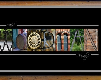 Family Name Print - Family Gift Ideas - Alphabet Photography - Custom Name Print - Alphabet Art Photos - Last Name Wall Art - Last Name Gift