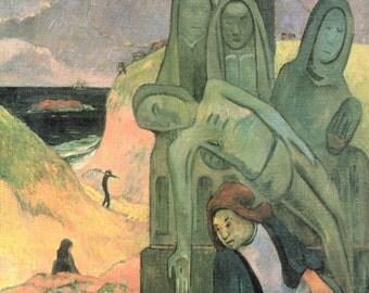 Paul Gauguin: The Green Christ. Fine Art Print/Poster (001537)