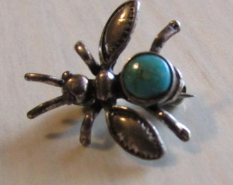 Sterling Silver Bug Pin