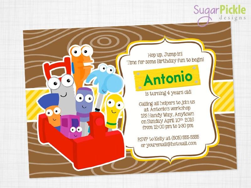 Handy Manny Invitation Handy Manny Party Handy by SugarPickleParty – Handy Manny Party Invitations