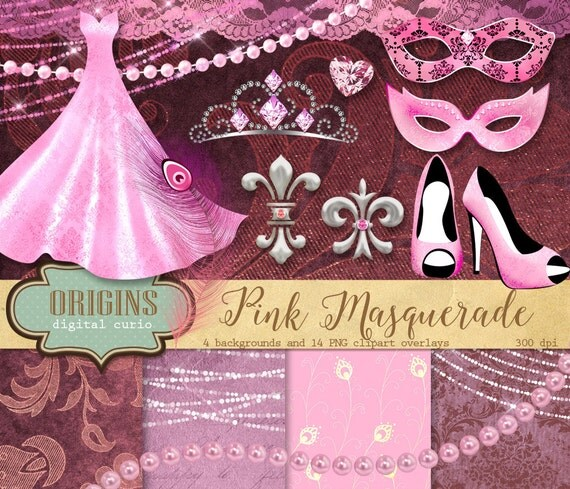 Masquerade pink background