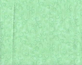 "Green Swirls Fabric - Quilting Treasures - Quality Quilters Cotton - Price for 34"" x 44"" (2 available)"