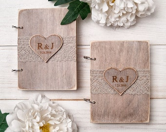 Wedding Vow Book Wedding Vows  Wedding Vow Notebooks Rustic Wedding Vow Books His and Hers Personalized Vows Book of Vows Bridal Gift