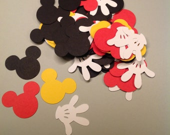 Mickey Mouse, confetti, Mickey confetti, Mickey cut outs, PGM0055