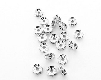 8mm crystal rondelles made by Preciosa.  Price is for 12 pcs
