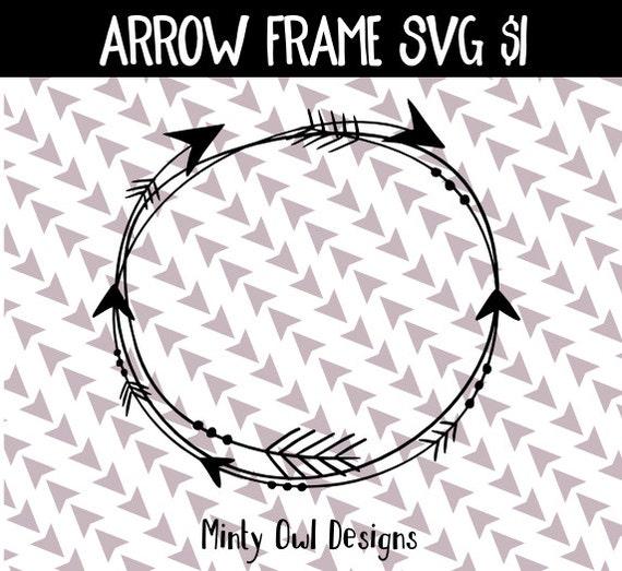 SVG Cut File Cricut Tribal Circle Arrow Frame Monogram SVG