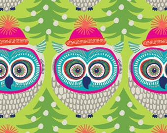 "Winter Owl Tissue Paper # 827 -- 10 large sheets 20"" x 30"" - Christmas Tissue"