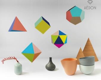 DIY platonic solids cut set