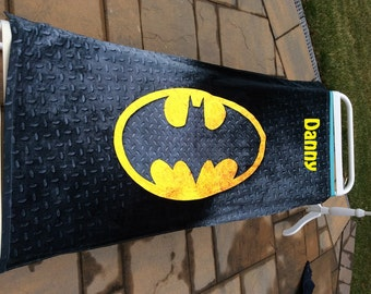 CHECKERED steel grating design BATMAN Beach Towel Personalized Beach Towel