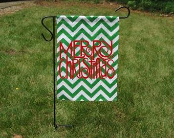 Merry Christmas Garden Flag-Customized Garden Flag-Monogrammed Flag-Personalized Flag