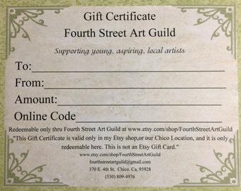 30 Dollars Gift Certificate