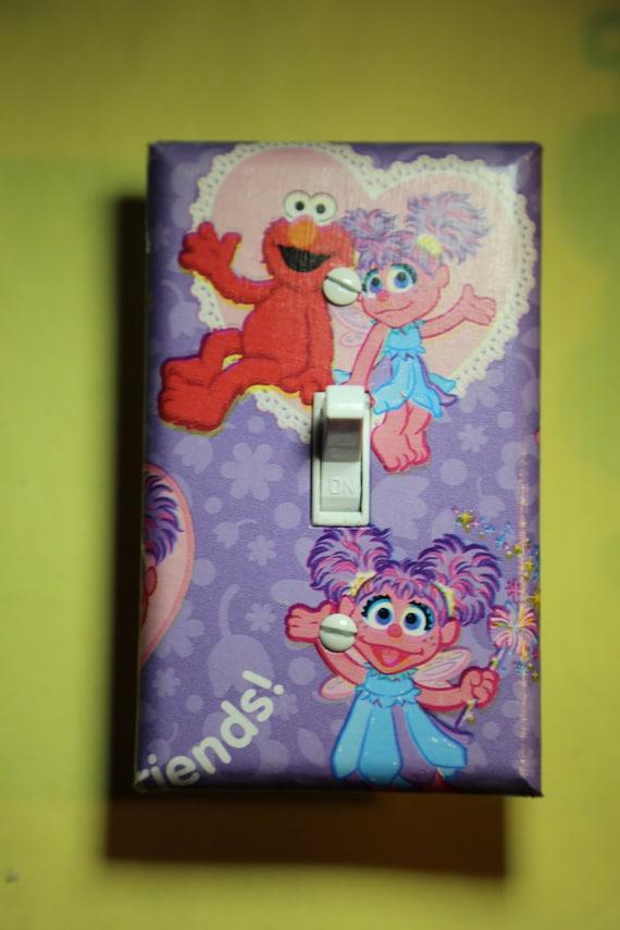 Elmo Bedroom Decorating Ideas: Sesame Street Abby Cadabby & Elmo Light Switch By