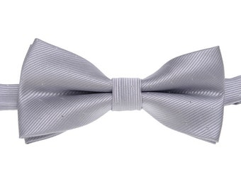 Silver Mens Bowtie.Wedding Silver Bow Tie With Sequin.Mens Bow Tie.Bowtie for Party.Bowtie for wedding.