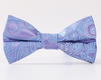 Lavender Paisley Bowtie.Mens Bowtie.Lavender Silk Bowtie