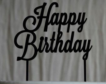 Happy Birthday Cake Topper, Celeration, Party, Lasercut Acrylic