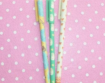 Set of 3 Forest Friends Pens