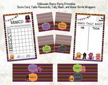 Bunco Printables - Bunco Halloween Scorecard Set - Bunco Decorations - Printable Bunco Party - Bunco Tally Sheet - Bunco Table Cards