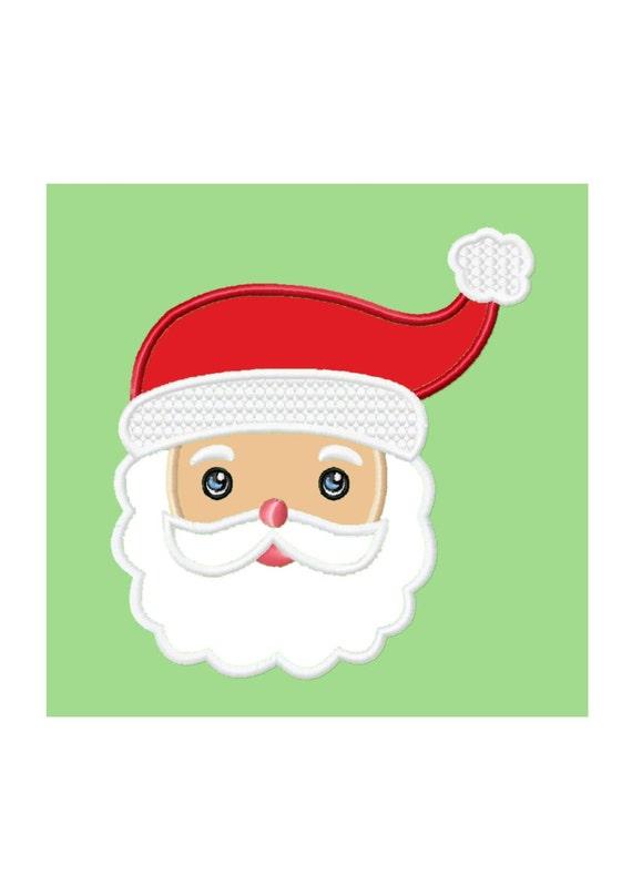 Santa face applique machine embroidery design