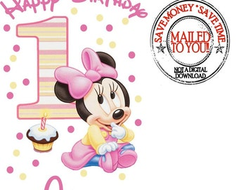 Minnie Mouse 1st Birthday Iron On Transfer