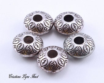 Choose 1, 3 or 5 European style charm beads silver plated !
