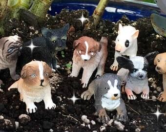 Miniature dog, fairy garden dog, miniature garden dog, dollhouse dog, fairy dog, miniature pug dog, miniature chihuahua