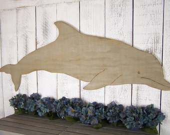 Wooden Dolphin Wall Art Dolphin Decor Dolphin Art Dolphin Wall Hanging Beach Wall Art Beach Decor Wood Dolphin Gift Nautical Decor
