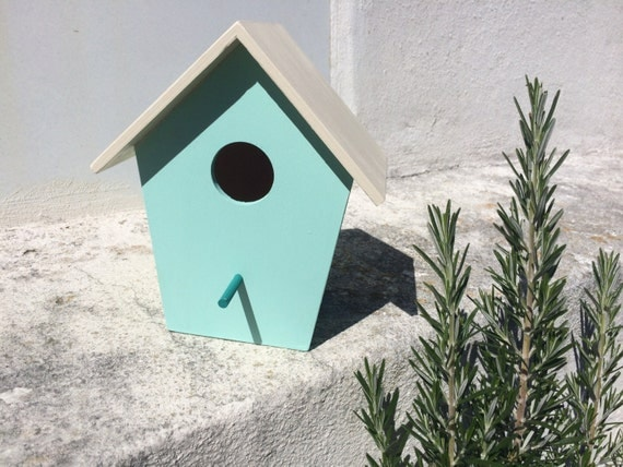 Bird House Medium Hand Painted In Pastel Colors