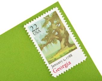 25 Georgia Stamps - 22c - 1988 - Unused Postage - Quantity of 25