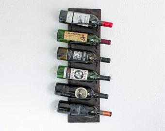 Wine Rack | Wood Wall-Mounted Wine Rack | Vertical Wine Rack Holds 6 Bottles