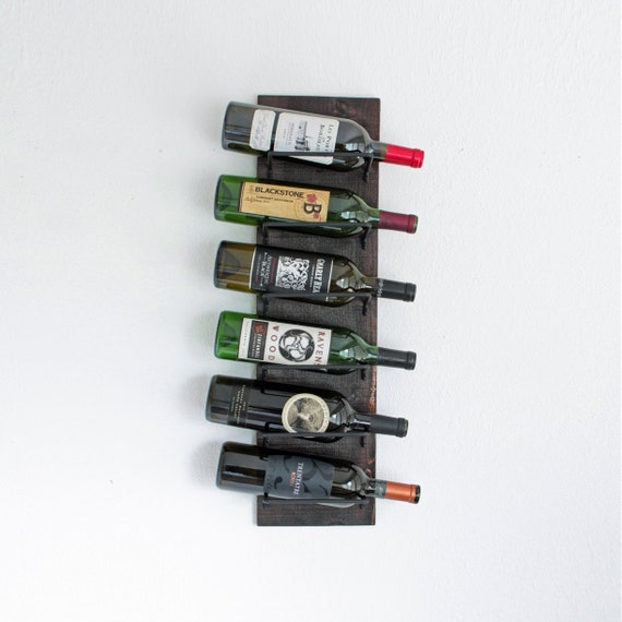 Wine Rack | Wood Wall-Mounted Wine Rack | Vertical Wine Rack Holds 6 Bottles