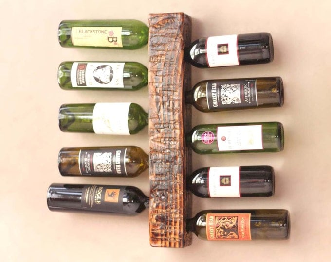 "22"" Rustic Wine Rack 