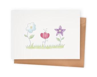 A Little Garden – Blank Greeting Card