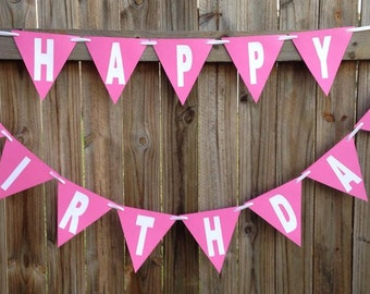 HAPPY BIRTHDAY Bunting available in any colour. Perfect for  a Party or Photo Shoot