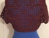 Windowpane Cotton Women's Shrug, Wrap, Sweater, Bolero, cardigan