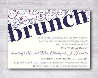Post-Wedding Invite - Post-Wedding Brunch - Customizable