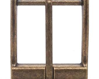 "Heel Bar Buckle Antique Brass 1-1/2"" 1651-09"