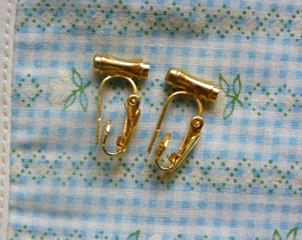 Vintage • Gold Golden Clip On Clipon Earrings Adapter Adaptor | Pretty Interchangeable Interchangable Metal Jewelry | Made in USA