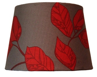New design lampshade - co-ordinates with matching cushion - or just enjoy it on it's own - red/grey classy sophisticated and beautiful!