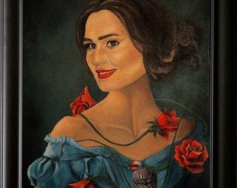 Custom portrait painting on canvas