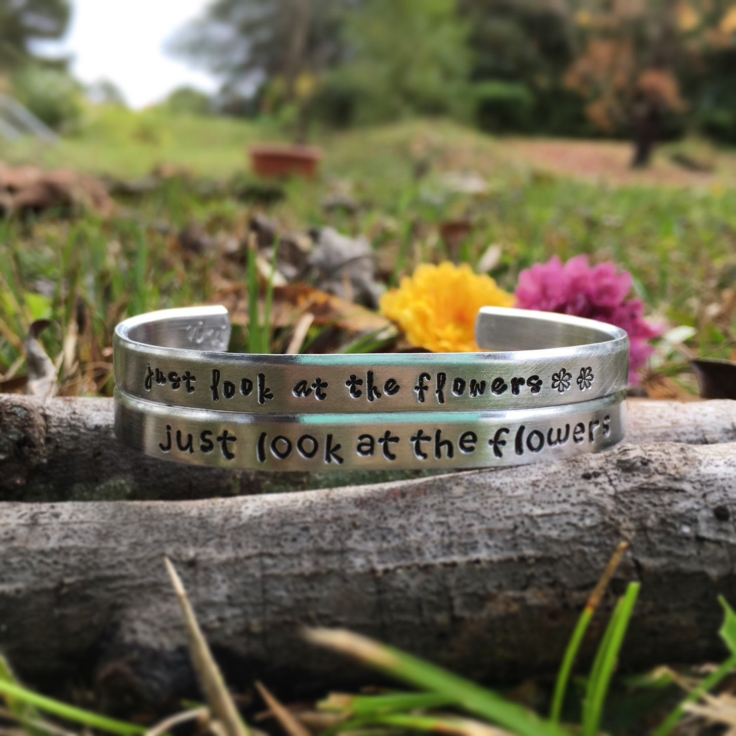 The walking dead bracelet just look at the flowers TWD