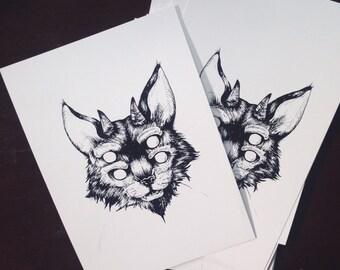 hellcat 5x7 art print