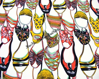 "Colorful Shoes & Sandals Fabric~by the yd~58"" wide~polyester~great for scarves and clothing"