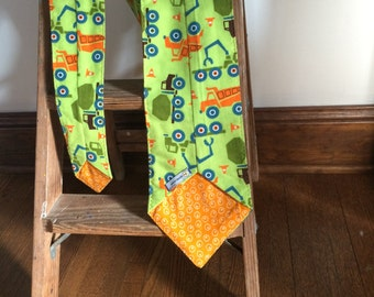 Flannel Scarf Tie - Trucks Orange dot egg Men's, Women's Super Soft custom, Winter fashion neck scarf